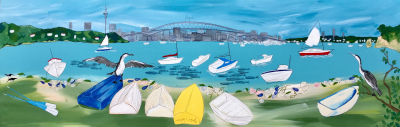 Dinghys at Little Shoal Bay