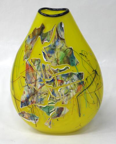 Oval Shard Vase - Canary Yellow (#3)