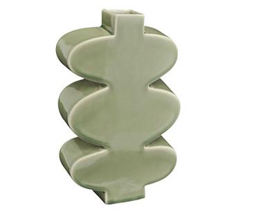 Leaf Vase Celadon Green