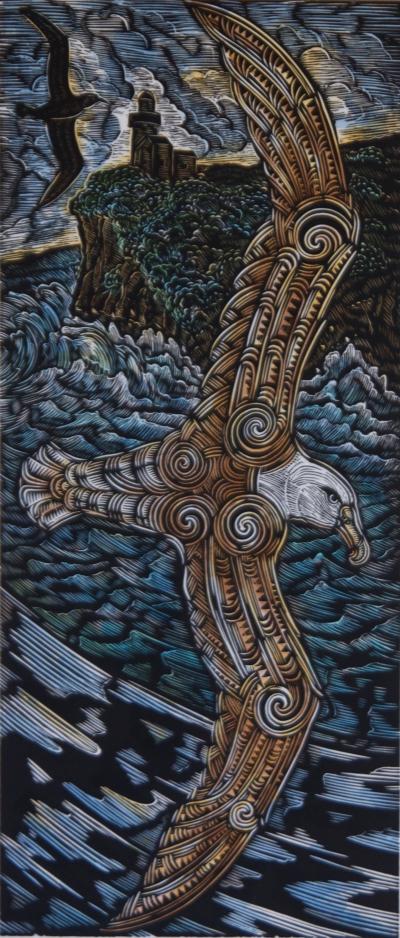 Moana in Flight, View from Aramoana of Taiaroa Head