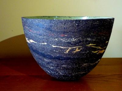 Dark Marbled Bowl