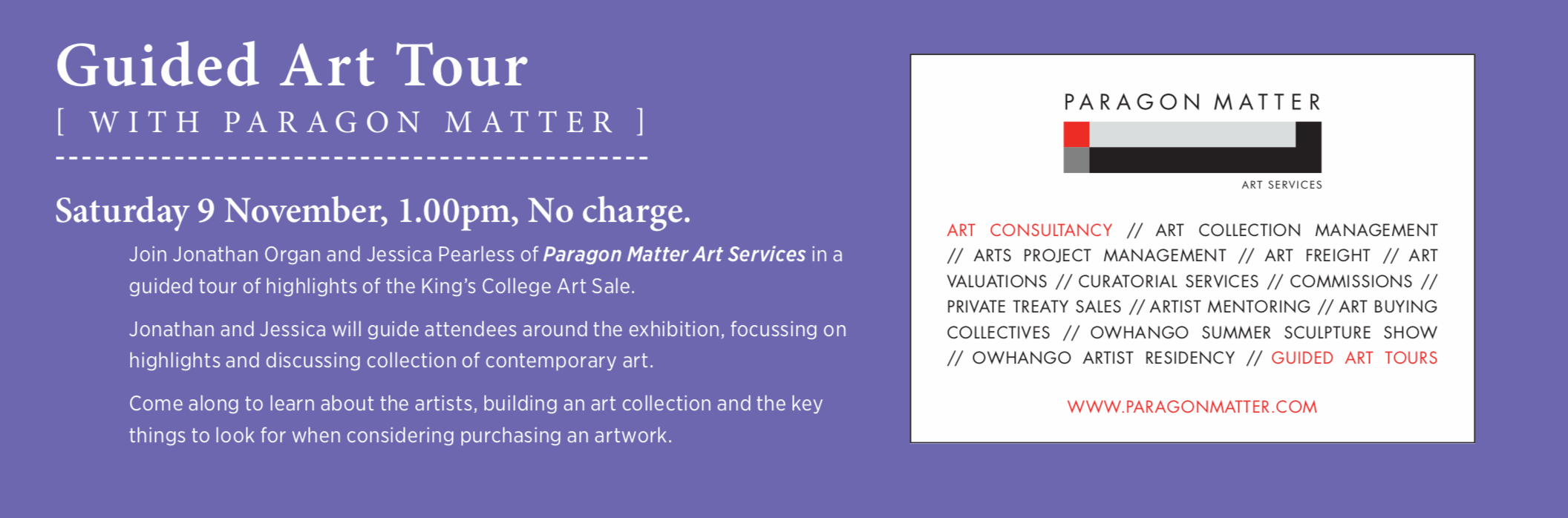 Paragon Matters Art Catalogue