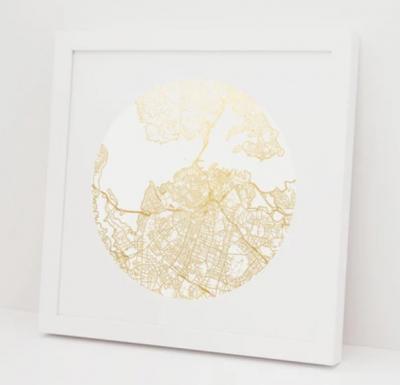 Auckland Gold Foil Print