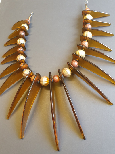 Amber Tusk Wall Necklace