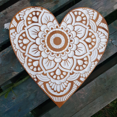 Mandala Heart  (White)