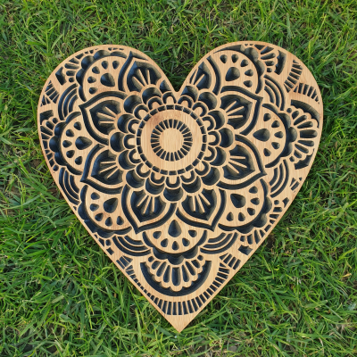 Mandala Heart (Black)
