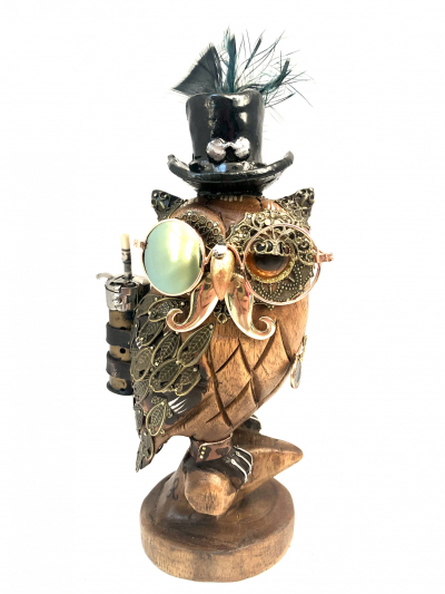 Wallace Metal Feather the Messenger Owl