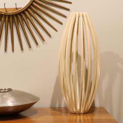 Natural Bamboo Conic Table Lamp