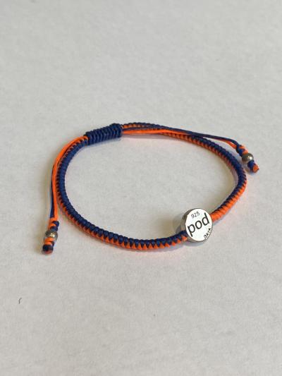 BAYA Bracelet - Navy/Orange