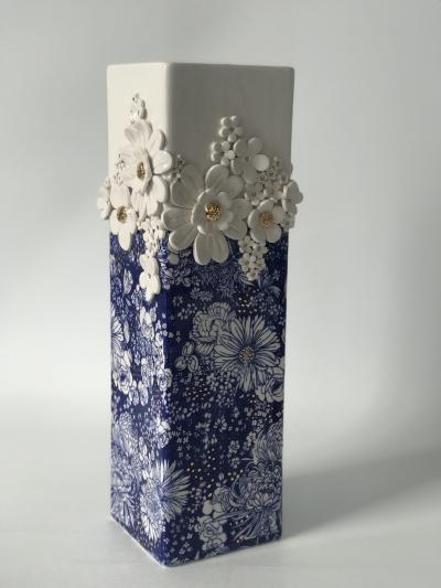 Tall Square Vase